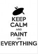 SV_013 Stencil Keep calm and paint