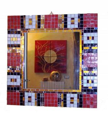 Il Mosaico E Gli Specchi.Sm 02 Specchio Lavorazione Mosaico Geometrico